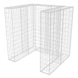vidaXL acél gabion 1 db gurulós kukához 110 x 100 x 120 cm