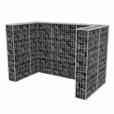 vidaxl gabionen m lltonnenverkleidung f r 2 tonnen stahl 180x100x120cm im vidaxl trendshop. Black Bedroom Furniture Sets. Home Design Ideas