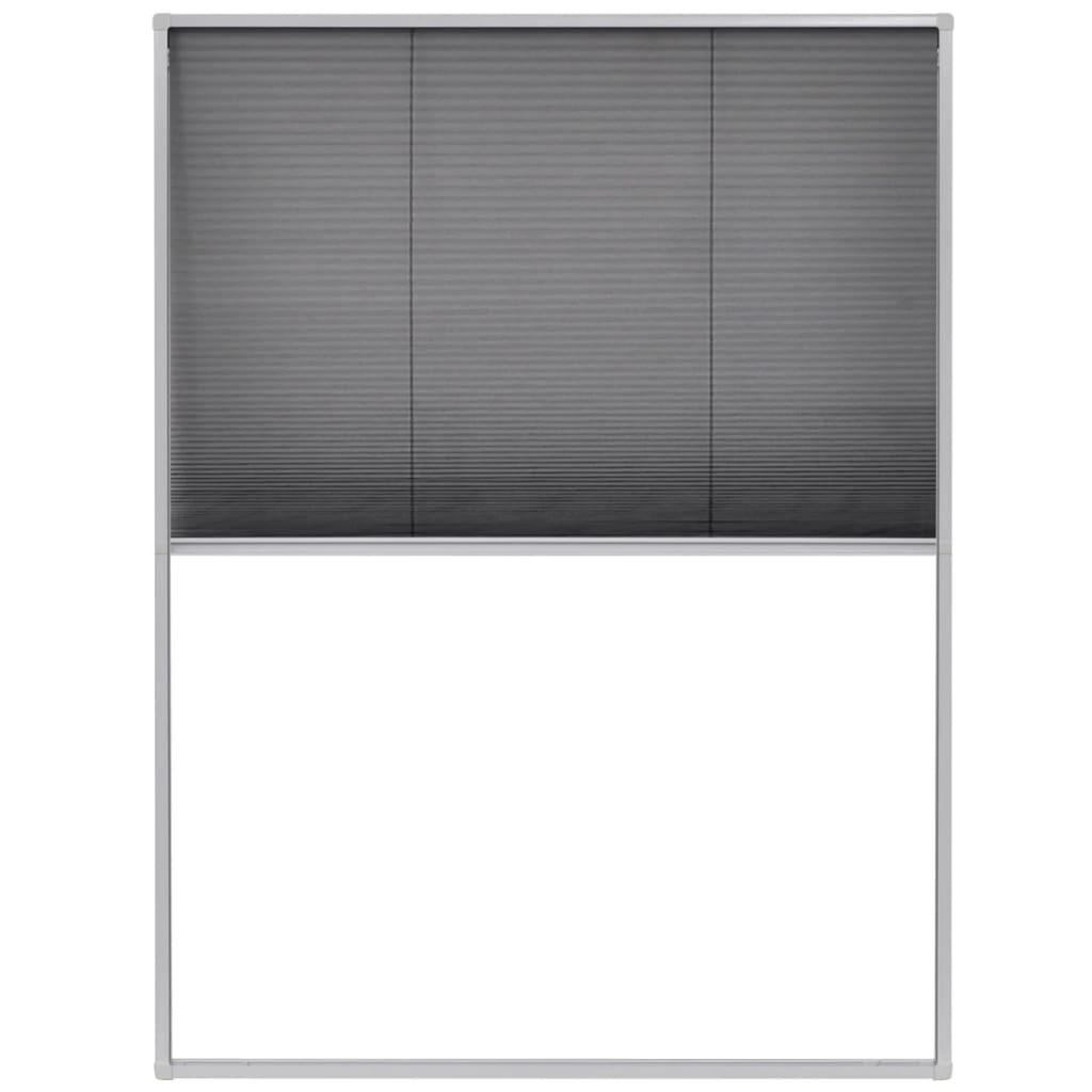 Afbeelding van vidaXL Raamhor plissé 60x80 cm aluminium