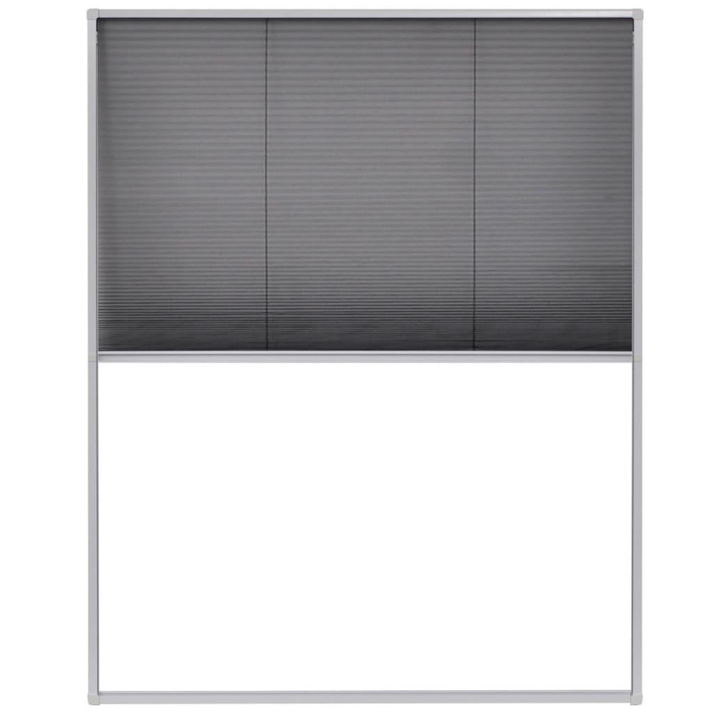 Afbeelding van vidaXL Raamhor plissé 80x100 cm aluminium