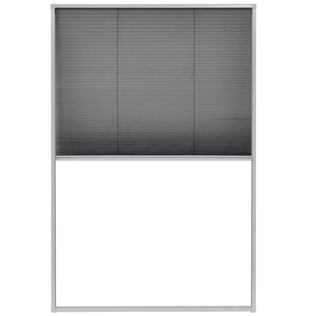 Afbeelding van vidaXL Raamhor plissé 80x120 cm aluminium