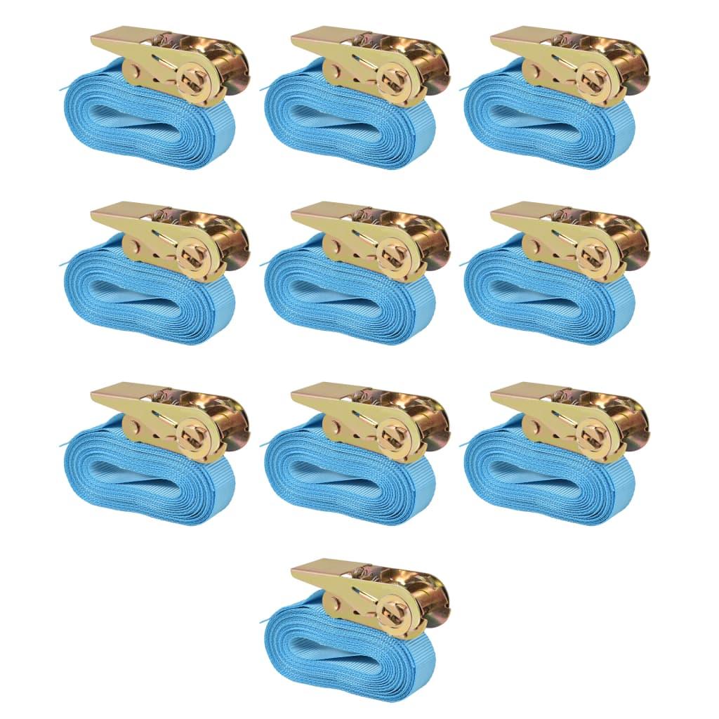Afbeelding van vidaXL Spanbanden 0,8 ton 4mx25mm blauw 10 st