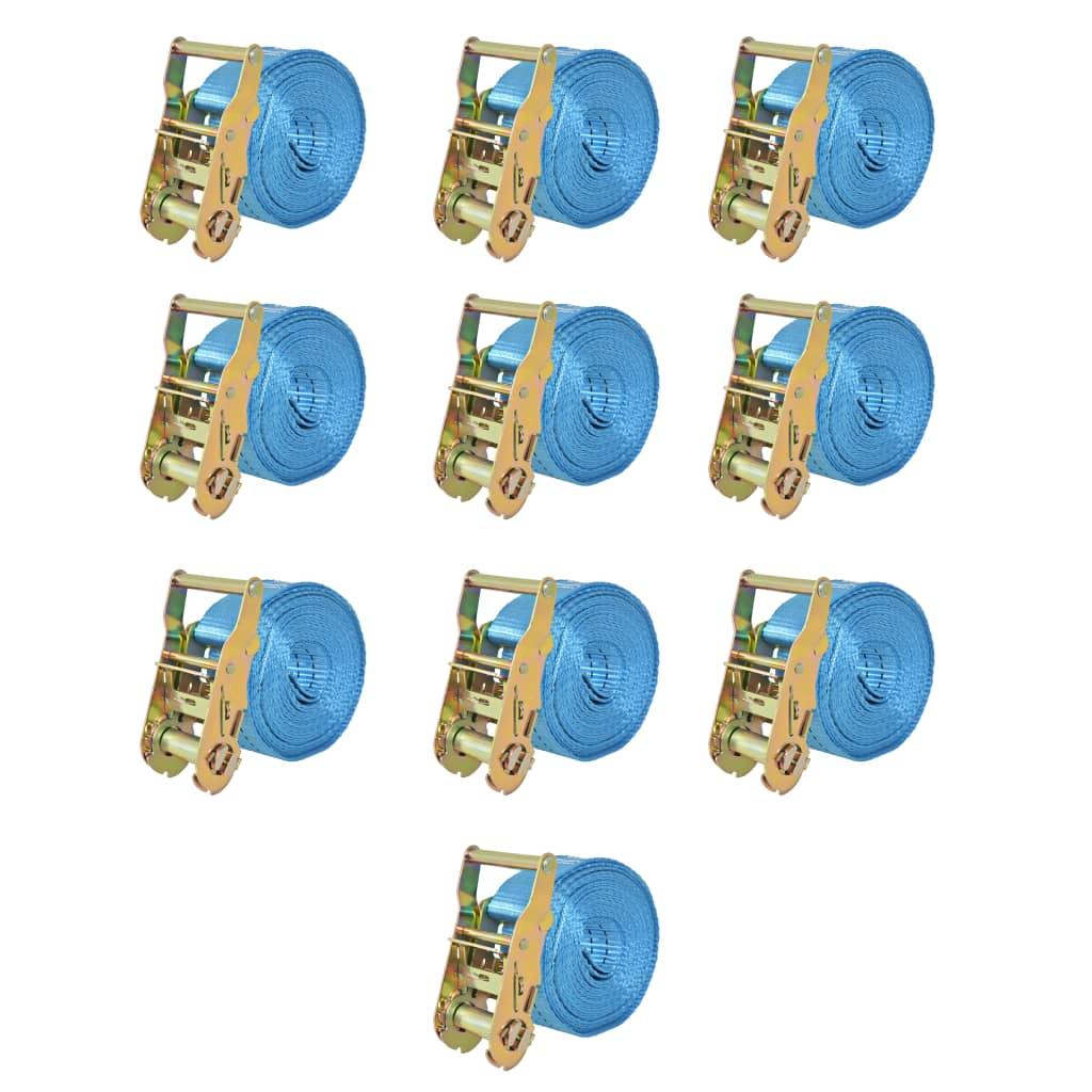 vidaXL 10 db kék racsnis spanifer, 2 tonna 6 m x 38 mm TUV/SGS
