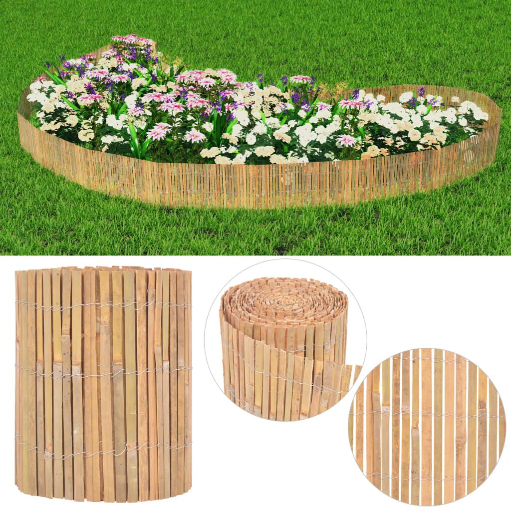 vidaXL bambusz kerti kerítés 1000 x 30 cm