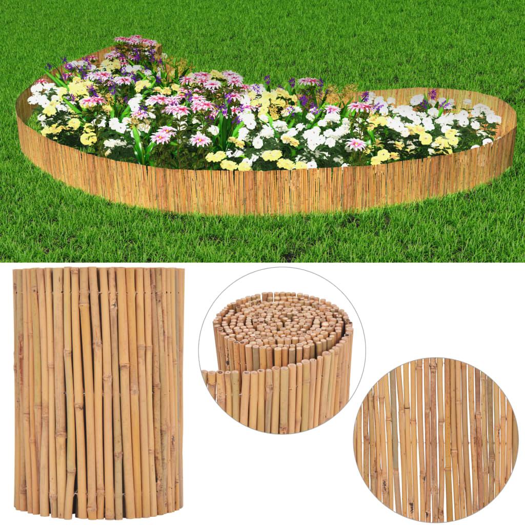 vidaXL bambusz kerti kerítés 500 x 30 cm