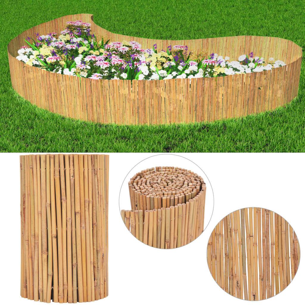 vidaXL bambusz kerti kerítés 500 x 50 cm