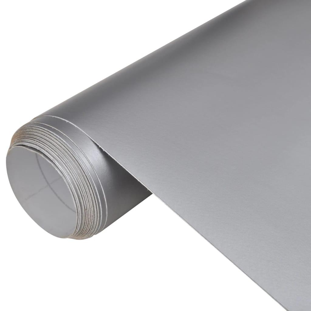 vidaXL Vízálló buborékmentes autófólia matt ezüst 200 x 152 cm