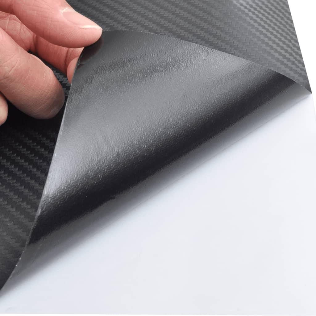 3d kohlefaser vinyl auto folie matt schwarz 152x500cm. Black Bedroom Furniture Sets. Home Design Ideas