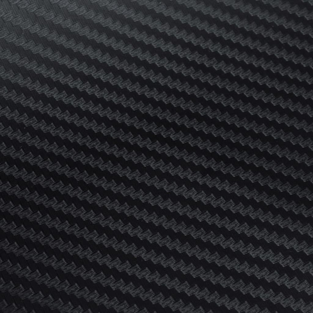 3d kohlefaser vinyl auto folie matt schwarz 152x500cm g nstig kaufen. Black Bedroom Furniture Sets. Home Design Ideas