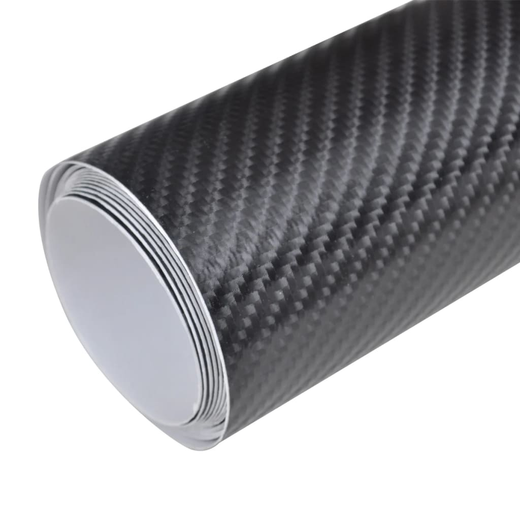 4d kohlefaser vinyl auto folie matt schwarz 152x500cm g nstig kaufen. Black Bedroom Furniture Sets. Home Design Ideas