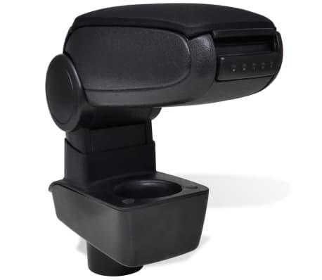 Black Car Armrest for Ford Fiesta MK7 (2009)