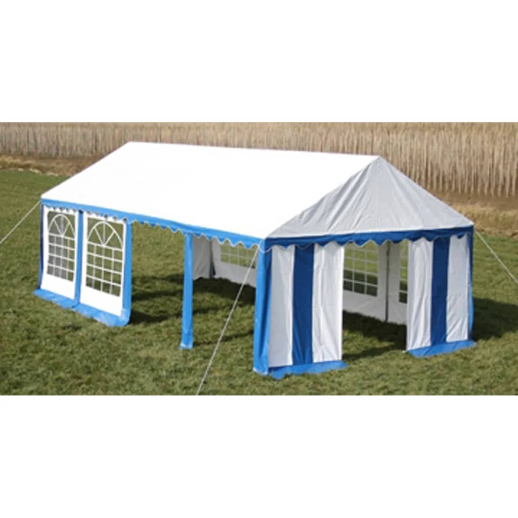 vidaxl party tent 4 x 8 m blue. Black Bedroom Furniture Sets. Home Design Ideas
