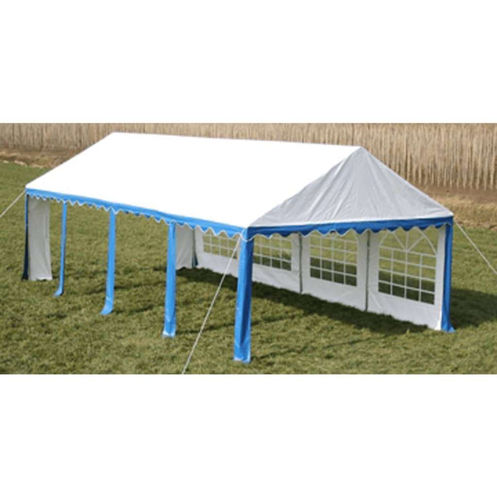 Partytent 8 x 4 PVC blauw