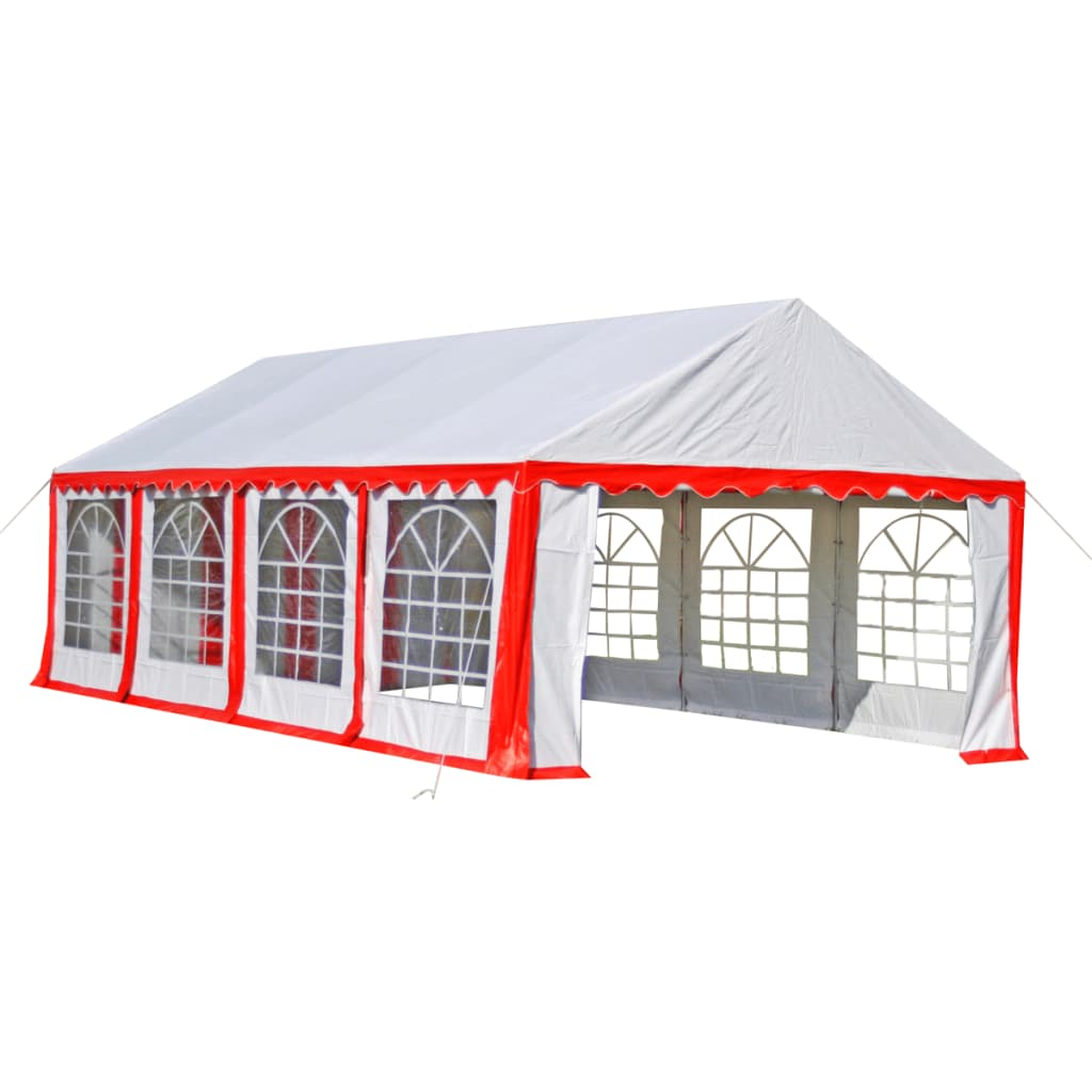 Partytent 8 x 4 PVC rood