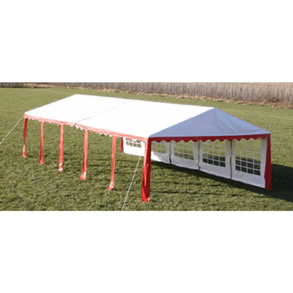 Partytent 10 x 5 PVC rood