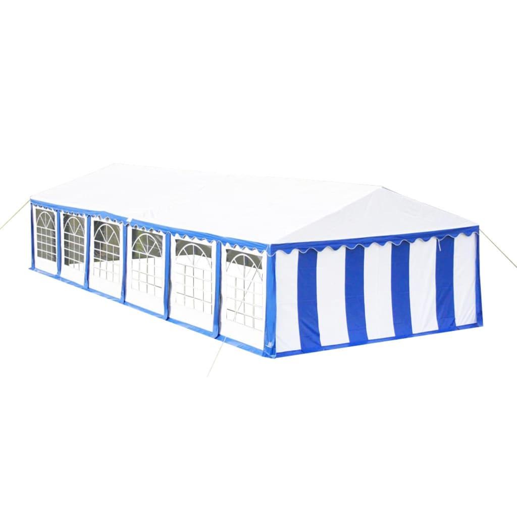 Afbeelding van vidaXL Partytent 12 x 6 PVC blauw