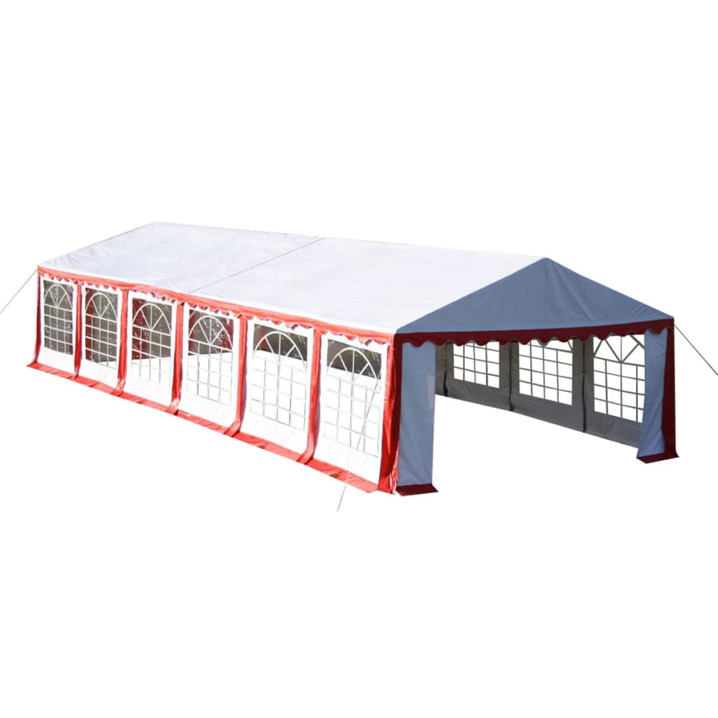 Partytent 12 x 6 PVC rood