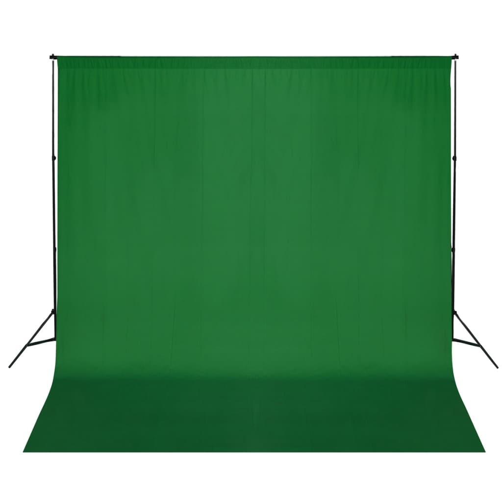 Afbeelding van vidaXL Achtergrondondersteuningssysteem 600x300 cm groen