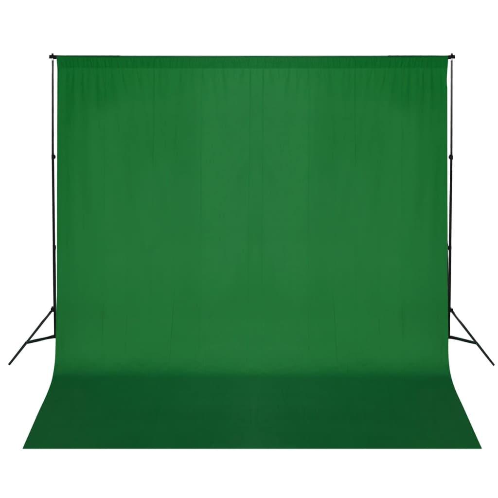 vidaXL Zöld Háttértartó Szerkezet / Háttér 600 x 300 cm