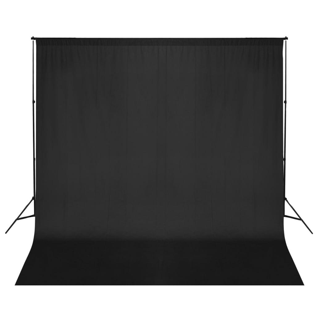 Afbeelding van vidaXL Foto-achtergrondondersteuningssysteem 600x300 cm zwart
