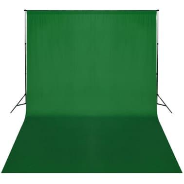 vidaXL Achtergrondsysteem met green screen 300 x 300 cm.[3/3]