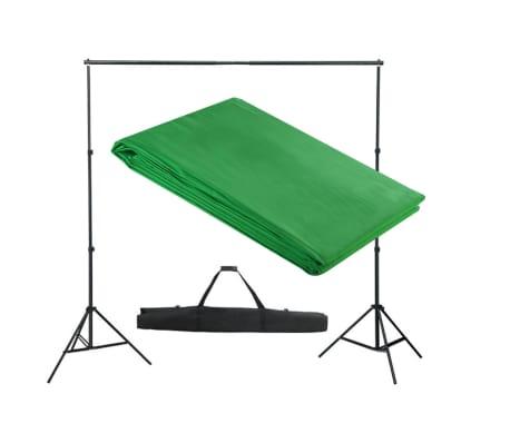 vidaXL Achtergrondsysteem met green screen 300 x 300 cm.