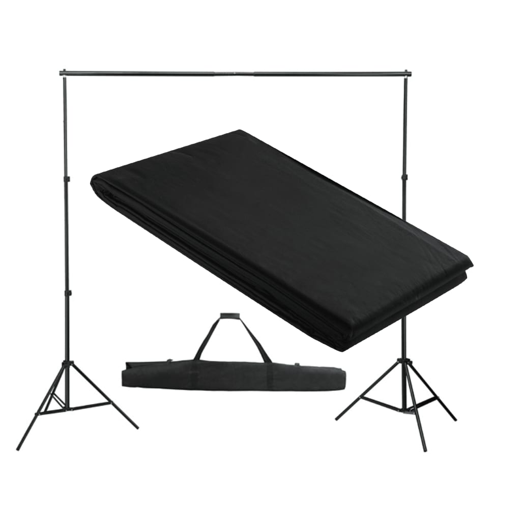 la boutique en ligne support de fond de studio photo avec fond noir 300x300 cm. Black Bedroom Furniture Sets. Home Design Ideas