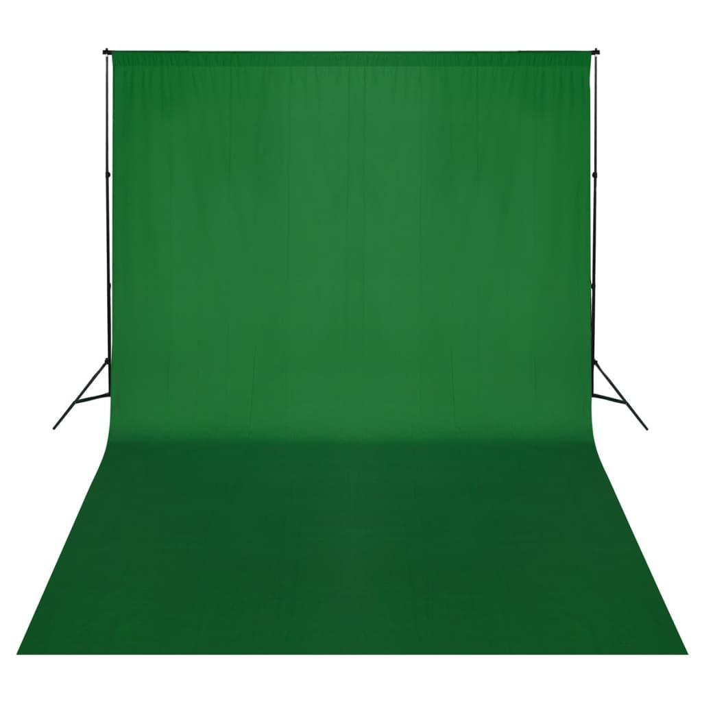 Afbeelding van vidaXL Achtergrondondersteuningssysteem 500x300 cm groen