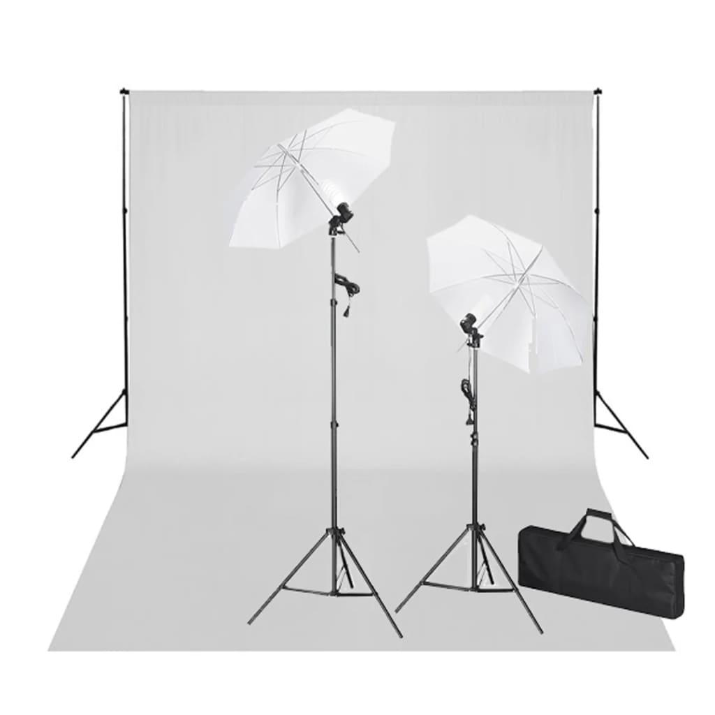 vidaXL Stúdió felszerelés: Fehér Háttér 600 x 300 cm és Égő