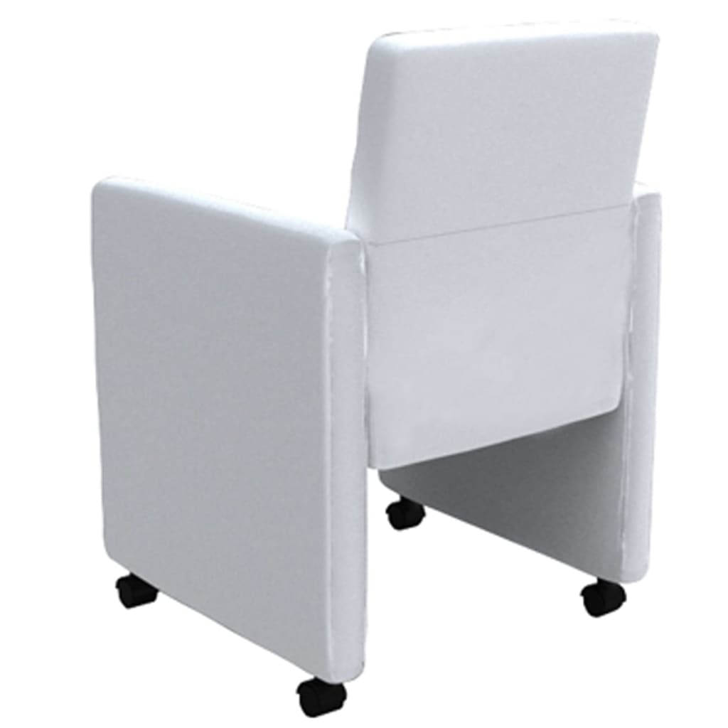acheter fauteuil roulettes blanc lot de 4 pas cher. Black Bedroom Furniture Sets. Home Design Ideas