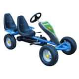 Go-Kart blau Zweisitzer mit 2 Polizeisticker