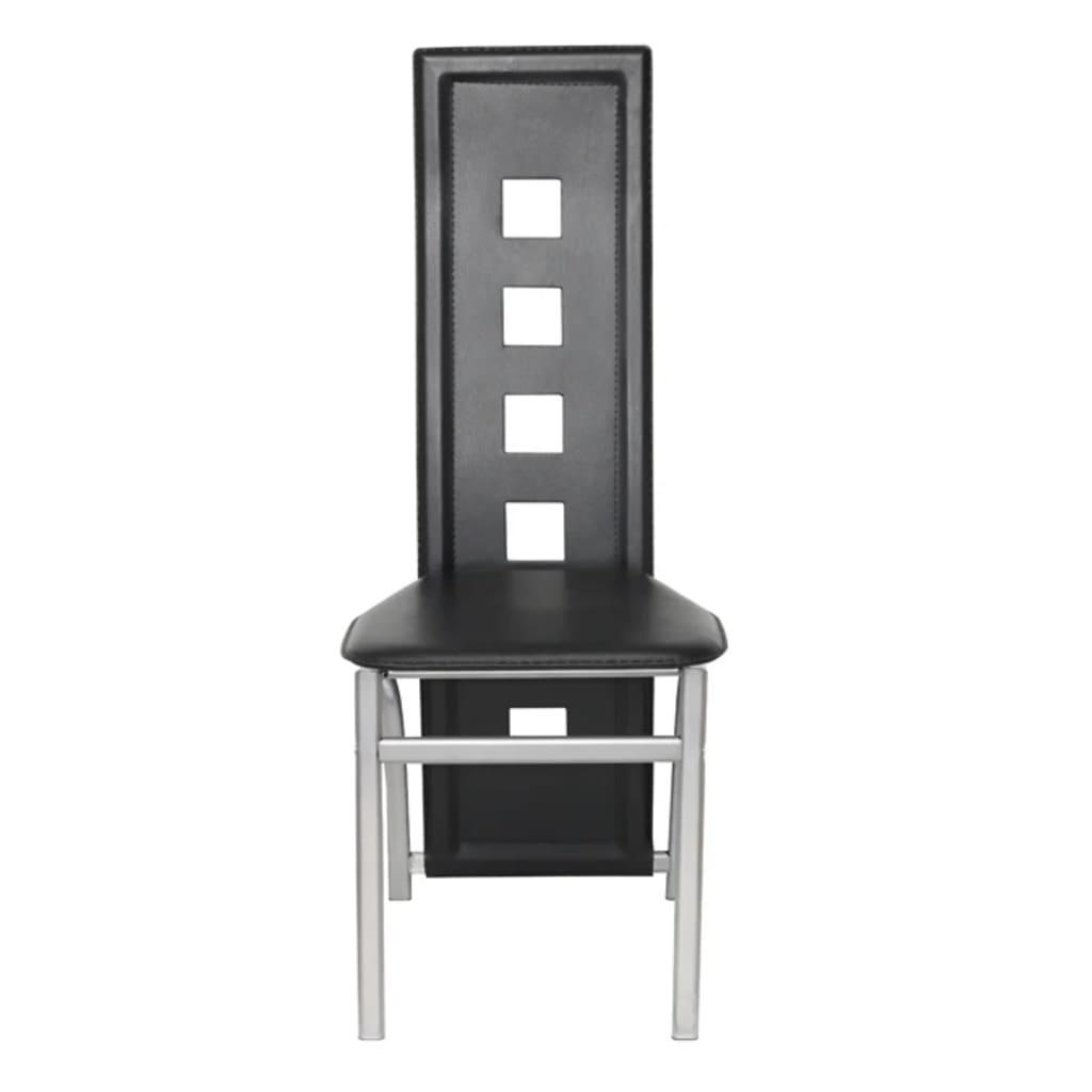 Articoli per sedie moderne cucina pranzo6 schienale alto for Sedie moderne nere