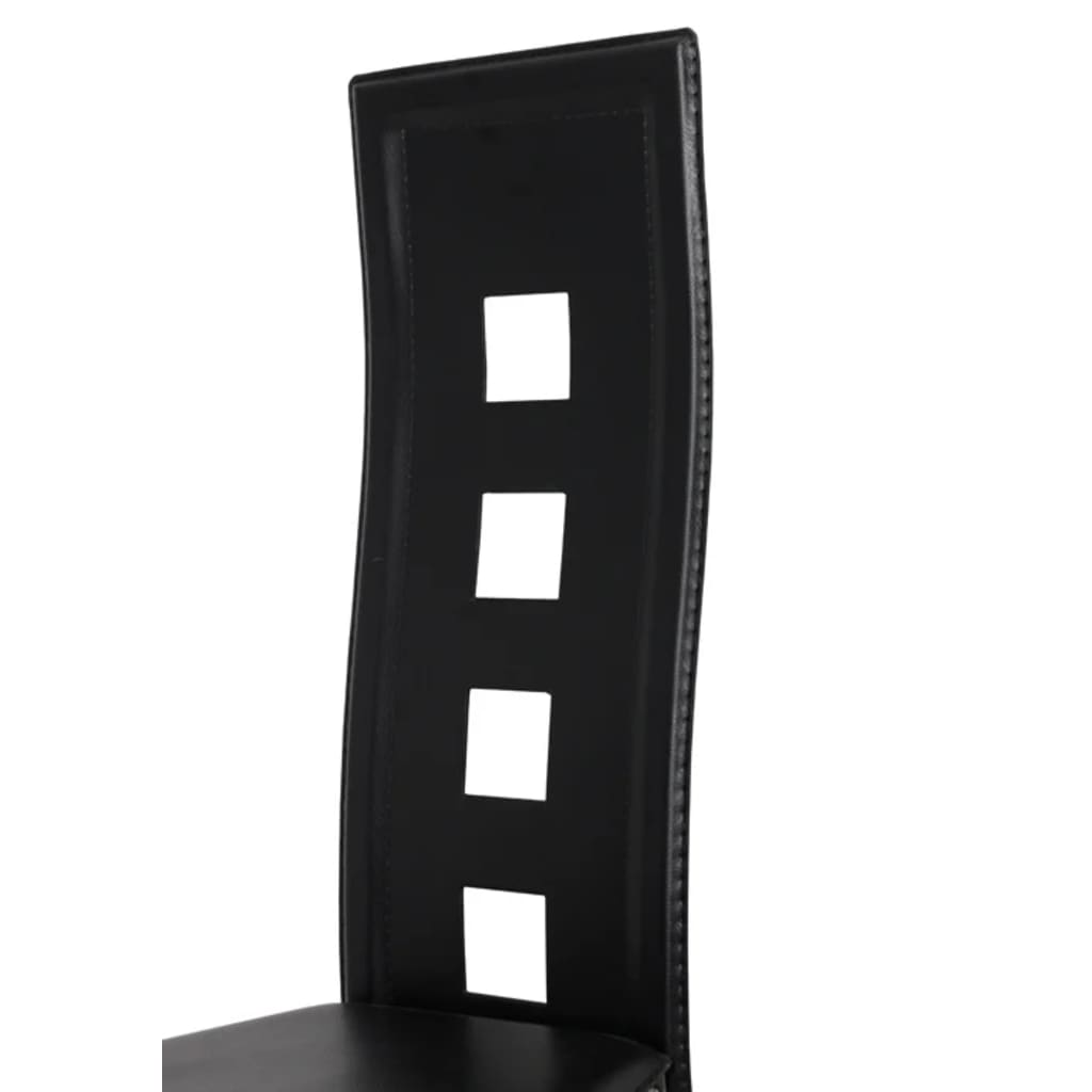 Articoli per sedie moderne cucina pranzo6 schienale alto for Sedie nere moderne