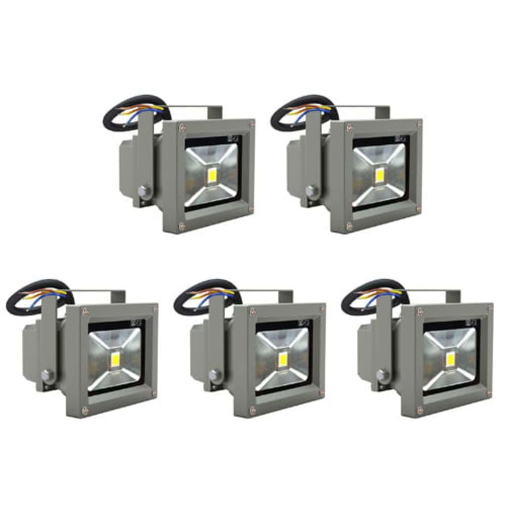 Faretti lampade led da esterno 10w 5 bianco e staffa for Lampade led da esterno