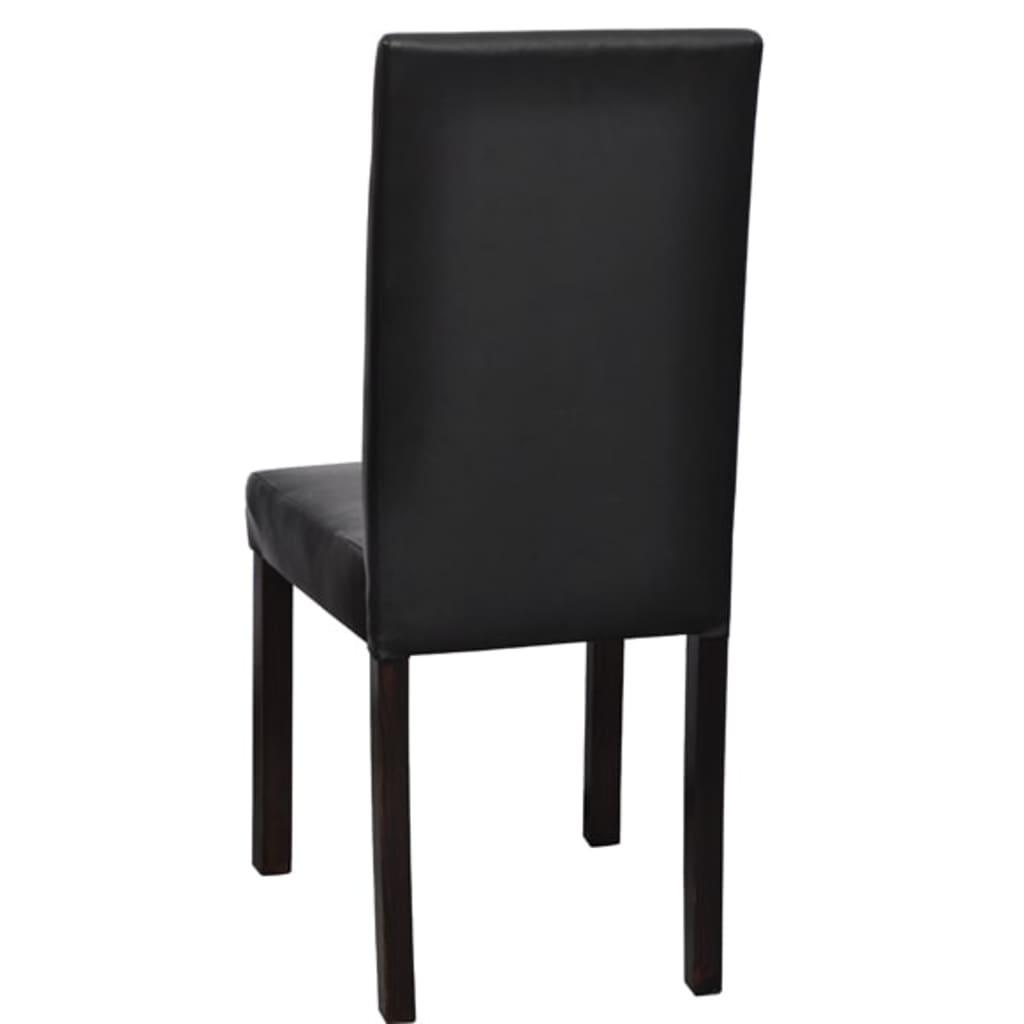 Acheter vidaxl chaises de salle manger 6 pcs noir for Salle a manger 6 chaises