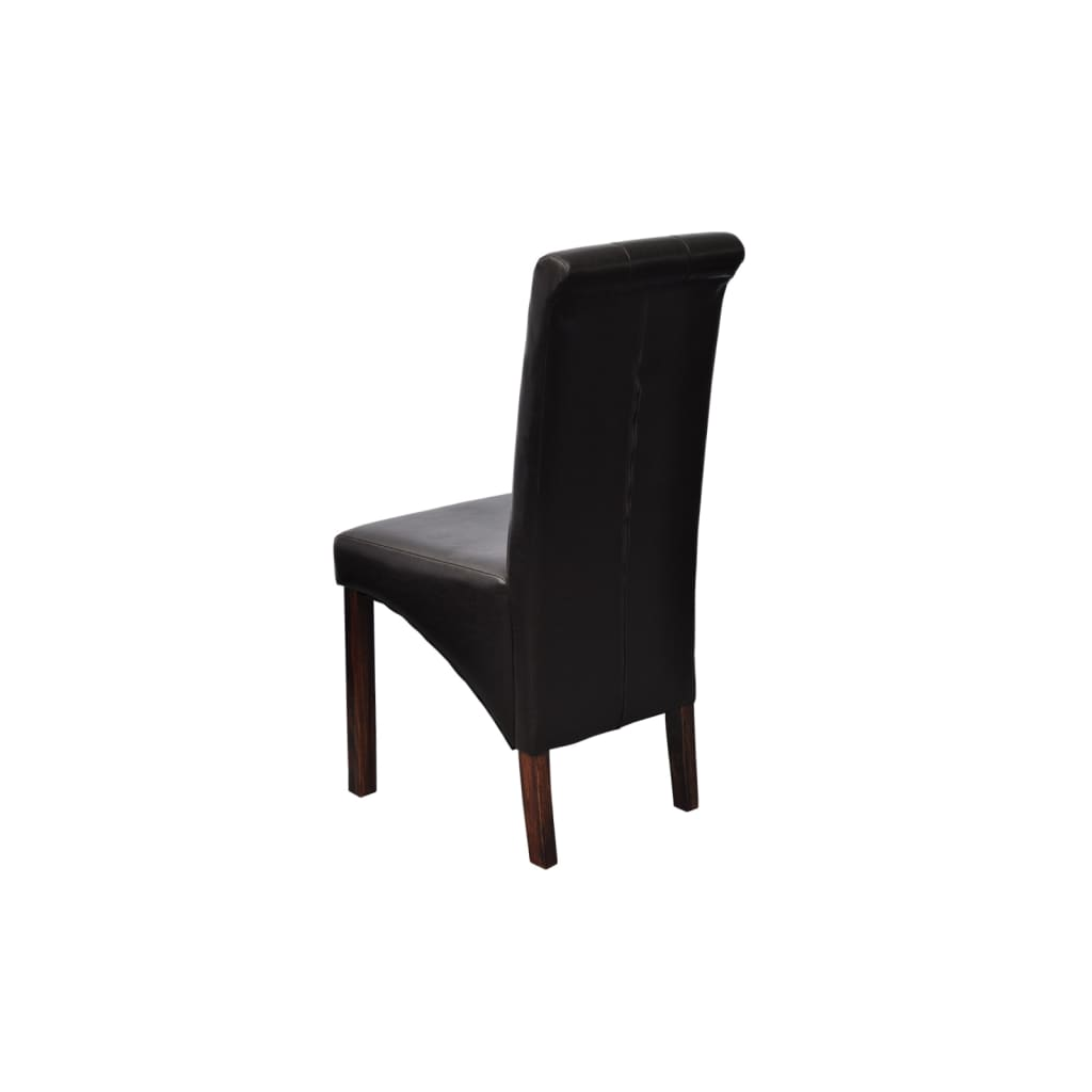 La boutique en ligne chaise antique simili cuir noir lot for Chaise simili cuir