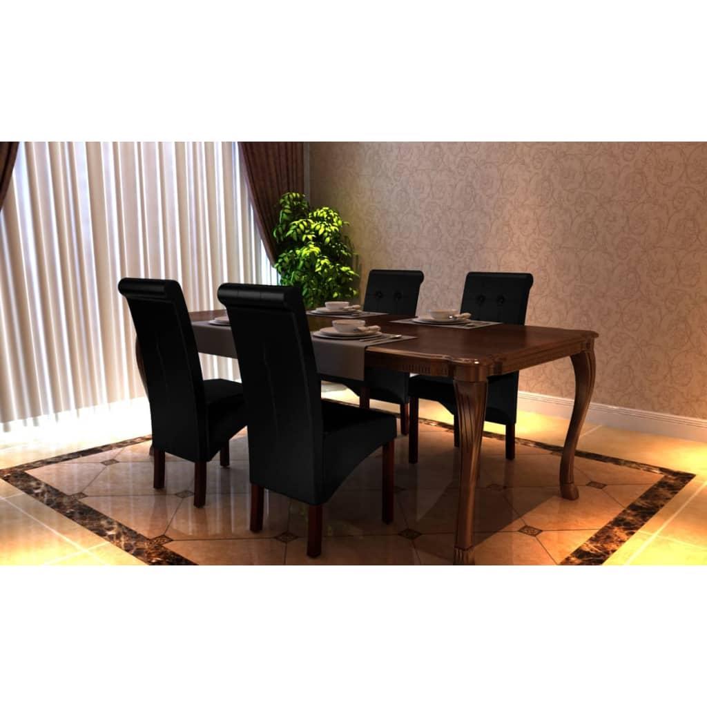 Articoli per 4 x sedie da pranzo e soggiorno pelle for Sedie da soggiorno