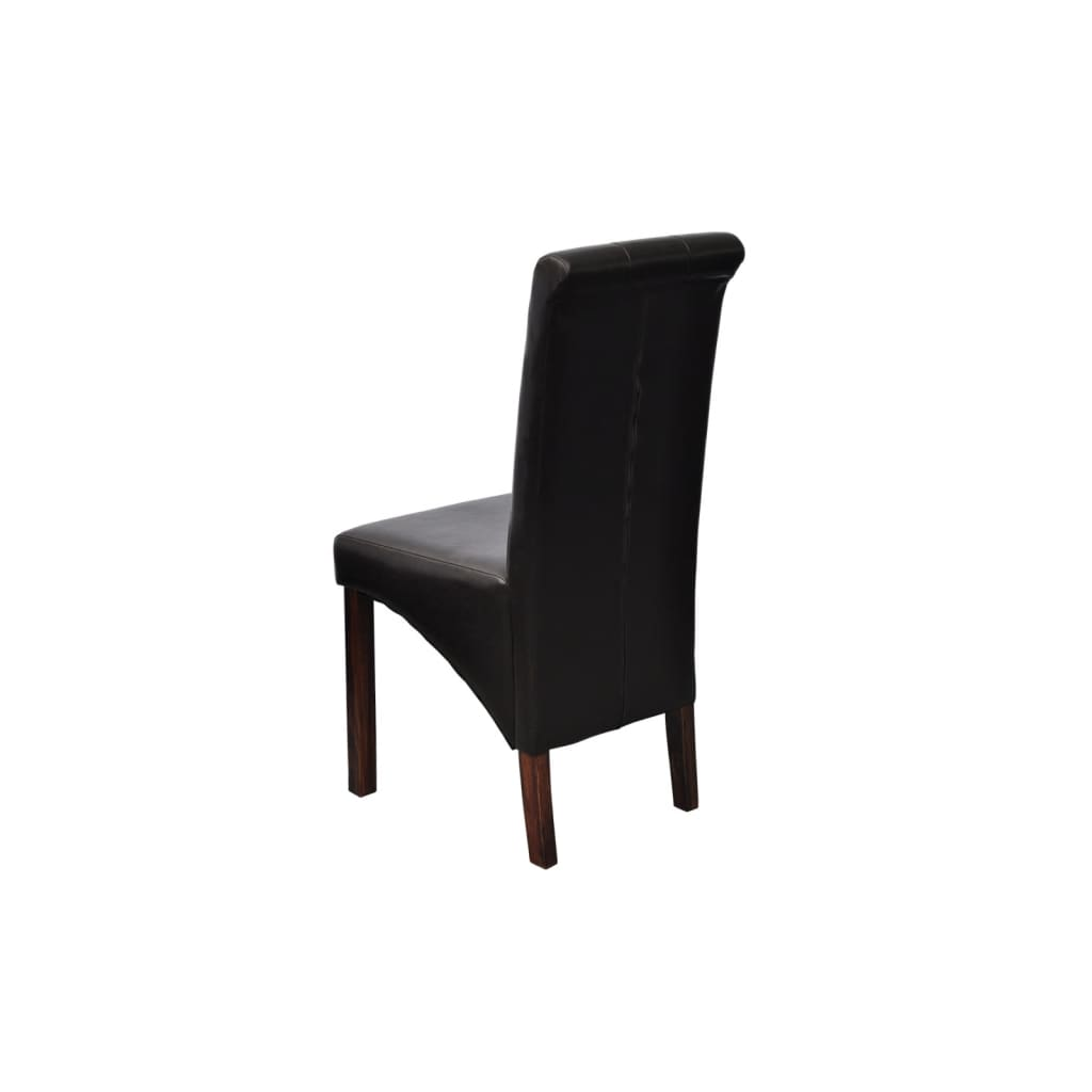 La boutique en ligne chaise en simili cuir antique noir for Chaise en simili cuir