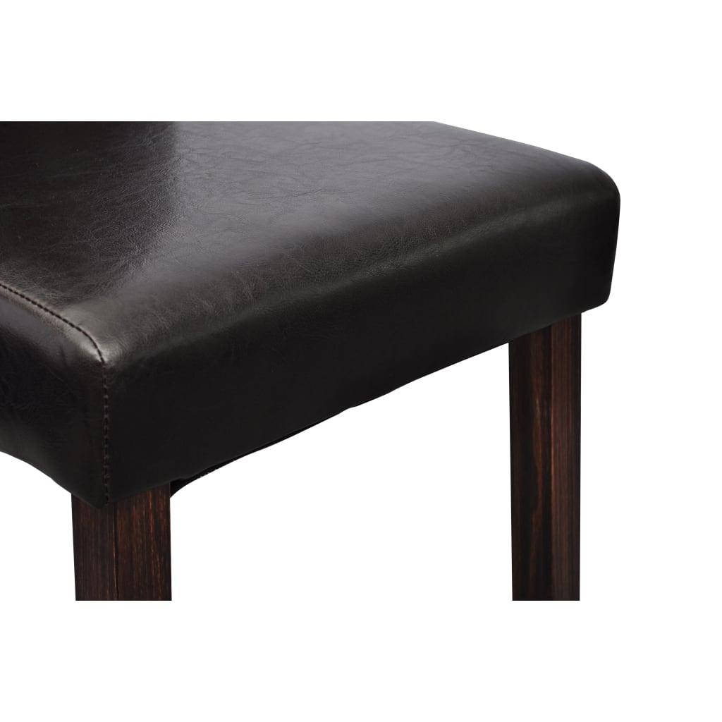 La boutique en ligne chaise en simili cuir antique noir - Chaise simili cuir noir ...