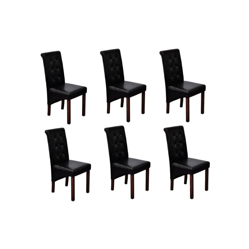 esszimmer st hle klassik 6 stk schwarz g nstig kaufen. Black Bedroom Furniture Sets. Home Design Ideas