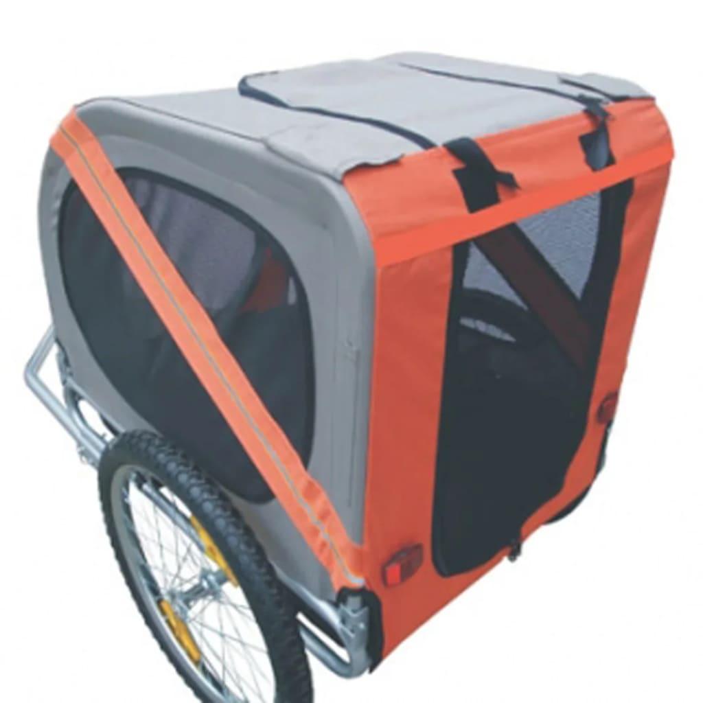 vidaxl hunde fahrradanh nger orange g nstig kaufen. Black Bedroom Furniture Sets. Home Design Ideas