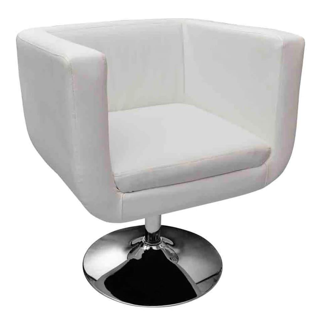 la boutique en ligne fauteuil design club blanc x2. Black Bedroom Furniture Sets. Home Design Ideas