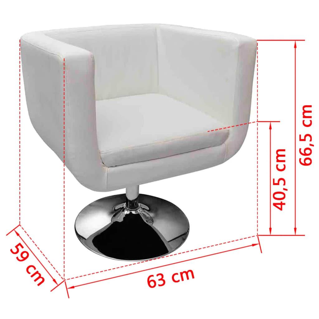 acheter fauteuil design club blanc x2 pas cher. Black Bedroom Furniture Sets. Home Design Ideas