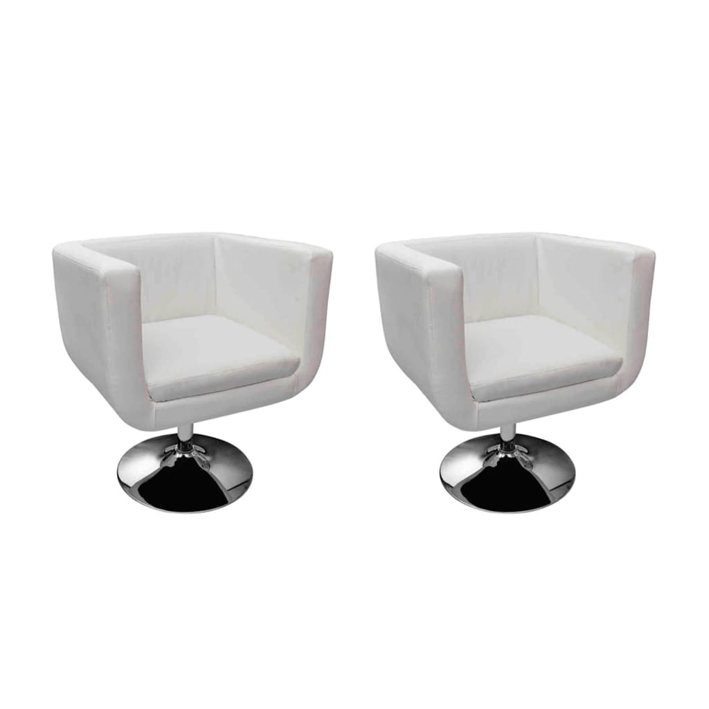 acheter fauteuil design club blanc x2 pas cher. Black Bedroom Furniture Sets. Home Design Ideas