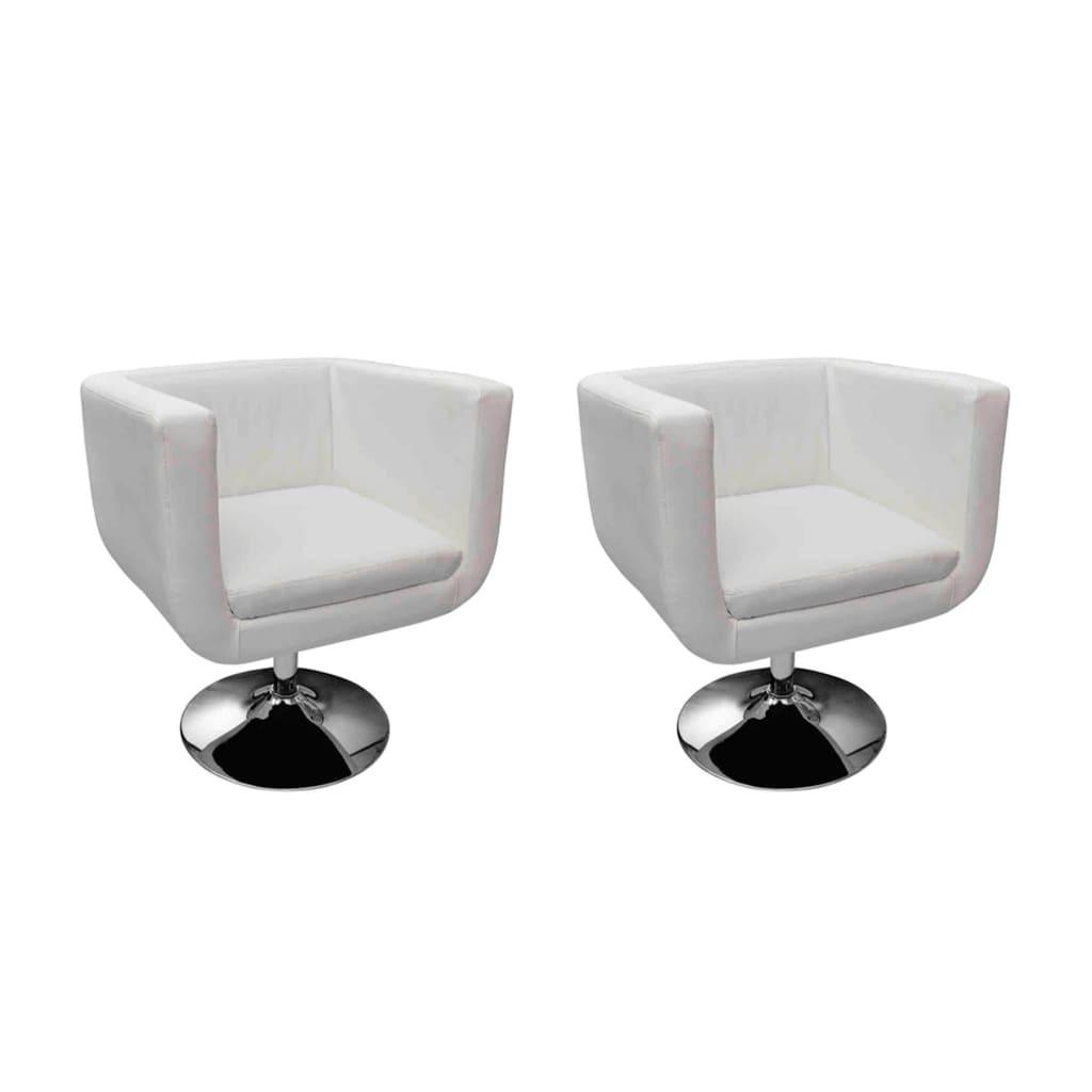 Acheter fauteuil design club blanc x2 pas cher for Fauteuil design blanc
