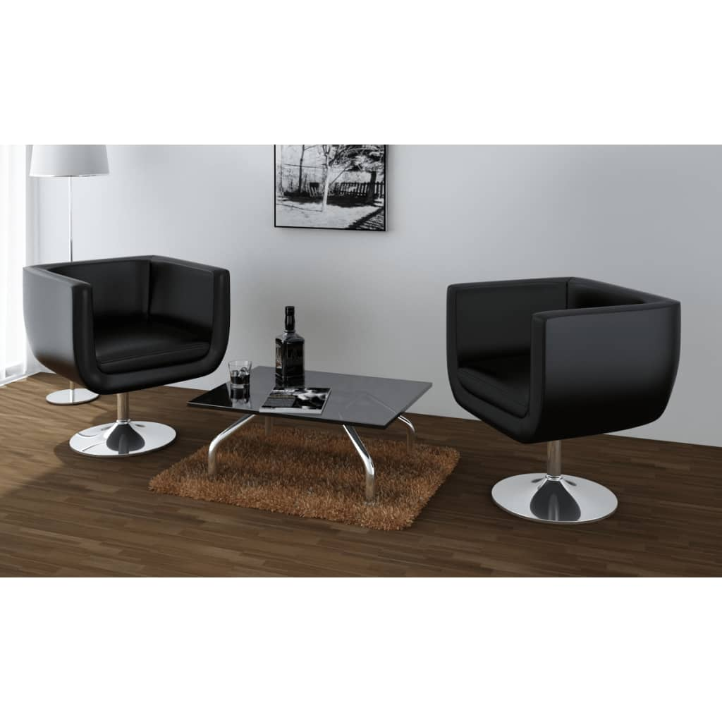 la boutique en ligne fauteuil ajustable moderne club noir 2 pi ces. Black Bedroom Furniture Sets. Home Design Ideas