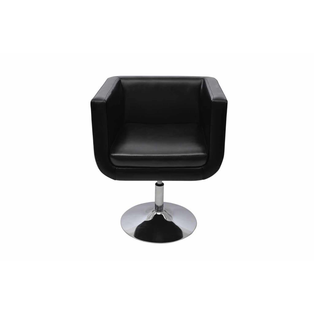 Silla moderna ajustable color negro cromo 2 piezas tienda for Sillas modernas online