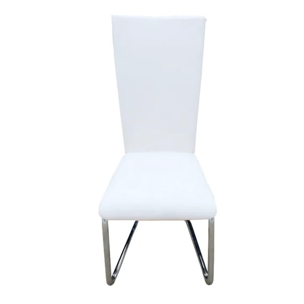 la boutique en ligne lot de 6 chaise design m tal blanche. Black Bedroom Furniture Sets. Home Design Ideas