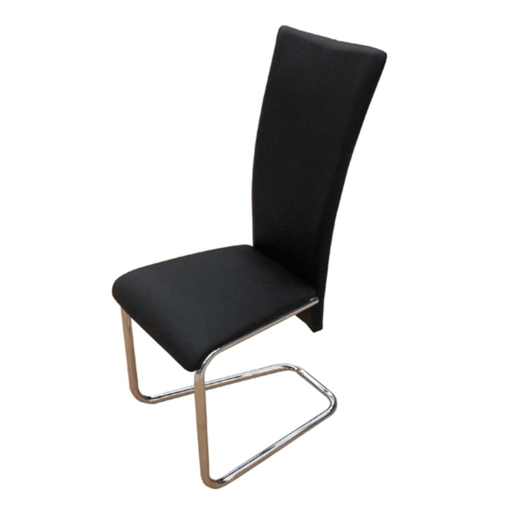 La boutique en ligne chaise design m tal noire lot de 6 - Lot de 6 chaise ...