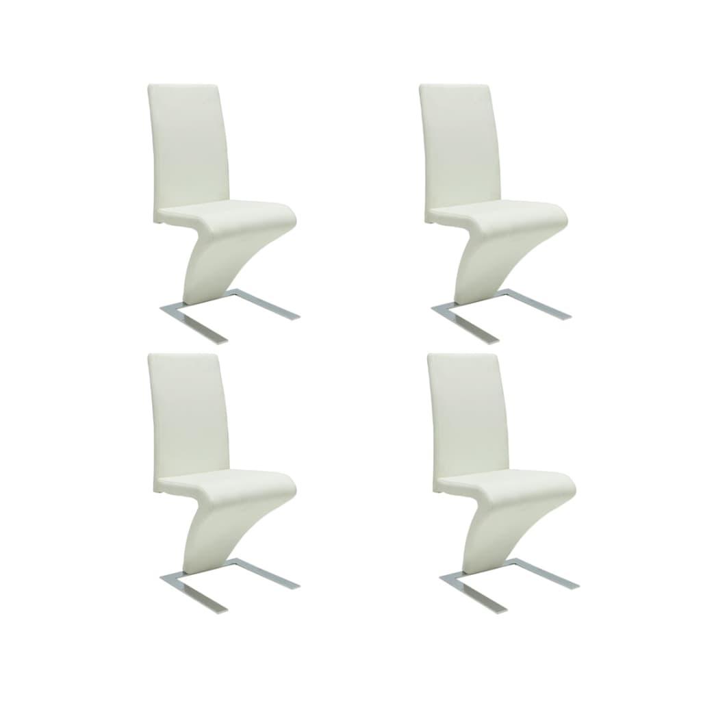 Articoli Per Sedie Moderne Design Set Da 4 Sedie Pelle Bianca VidaXL  #667457 1024 1024 Set Sedie Da Cucina